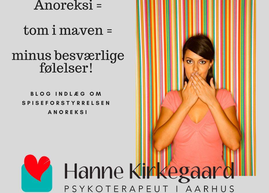 Anoreksi = tom i maven = minus besværlige følelser!