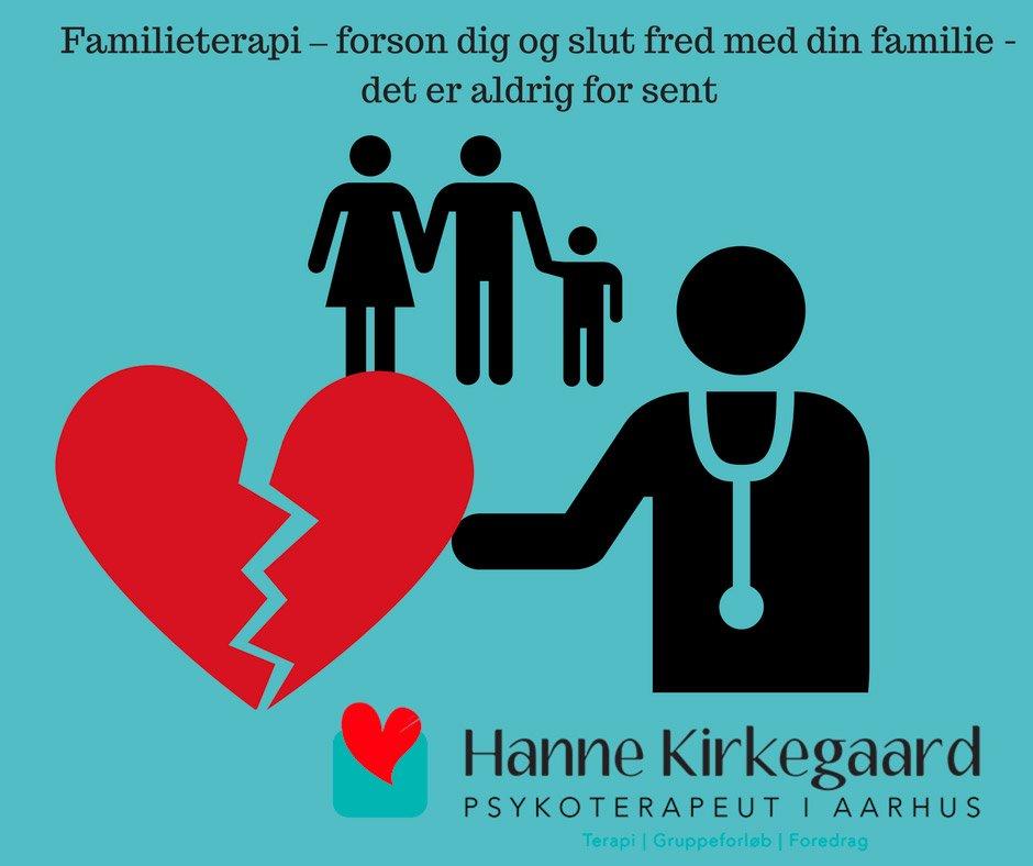 Familieterapi – forson dig og slut fred med din familie - det er aldrig for sent