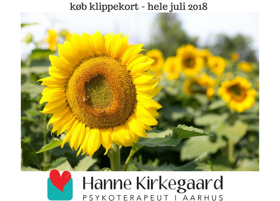 Sommer rabat på terapiforløb hele juli 2018